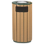 Rubbermaid Commercial Rubbermaid® Commercial Regent 50 Series Ash/Trash Waste Receptacle RCPR23SU50PL