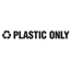 Rubbermaid Commercial Recycling Label Block Letter Decal RCPRSW3
