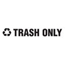 Rubbermaid Commercial Recycling Label Block Letter Decal RCPRSW4