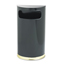 Rubbermaid Commercial European & Metallic Series Half-Round Waste Receptacle RCPSO8-10BPL