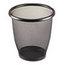 Safco Safco® Onyx™ Round Mesh Wastebaskets SAF9716BL
