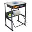 Safco AlphaBetter® Desk, 28 x 20 Premium Top, with Book Box SFC1204GR