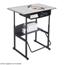 Safco AlphaBetter® Desk, 36 x 24 Premium Top, with Book Box SFC1209GR