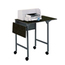 Safco Mobile Machine Stand with Drop Leaves SFC1876BL