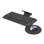 Safco Adjustable Keyboard Platform with Swivel Mouse Tray SFC2135BL