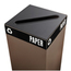 Safco Public Square® Recycling Lids for Paper SFC2987BL