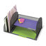 Safco Onyx™ Mesh Desk Organizer with Two Vertical/Two Horizontal Sections SFC3264BL