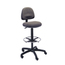 Safco Precision Extended Height Swivel Stool with Adjustable Footring SFC3401DG