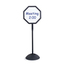 Safco WriteWay™ Double-Sided Dry Erase Standing Message Sign SFC4118BL