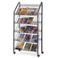 Safco Mobile Literature Rack SFC4129CH