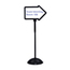 Safco WriteWay™ Double-Sided Dry Erase Standing Message Sign SFC4173BL