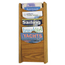 Safco Solid Wood Wall-Mount Literature Display Rack SFC4330MO