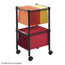 Safco 2-Tier Compact File Cart SFC5221BL