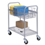 Safco Heavy-Duty Steel Wire Mail Cart SFC5235GR