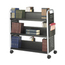 Safco Scoot™ Double-Sided Steel Book Cart SFC5335BL