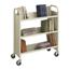 Safco Steel 3-Shelf Single-Sided Book Cart SFC5358SA