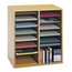 Safco Adjustable Compartment Wood Literature Organizers SFC9422MO