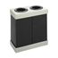 Safco At-Your-Disposal™ Double Recycling Center SFC9794BL
