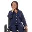 Silverts Women's Open Back Adaptive Fleece Cardigan With Pockets SIL232500203
