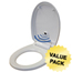 iTouchless Touch-Free Sensor Control Automatic Toilet Seat - Round ITOTS1RWACCS