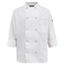 Chef Designs Women's 10 Pearl Button Chef Coat UNF0401WH-RG-S