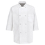 Chef Designs Men's 1/2 Sleeve Chef Coat UNF0404WH-SS-L