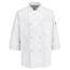 Chef Designs Men's 8 Pearl Button Chef Coat UNF0413WH-RG-S