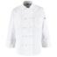Chef Designs Men's 10 Knot Button Chef Coat UNF0421WH-RG-S