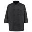 Chef Designs Men's Spun Poly Chef Coat UNF0427BK-RG-M