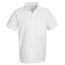 Chef Designs Men's Button-Front Cook Shirt UNF5010WH-SS-M