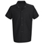 Chef Designs Men's Cook Shirt UNF5020BK-SS-L