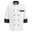 Chef Designs Men's Garnish Chef Coat UNFKT74BT-RG-L