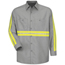 Red Kap Men's Enhanced Visibility Industrial Work Shirt UNFSP14EG-LN-XL