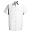 Red Kap Men's Specialized Pocketless Work Shirt UNFSP26WH-SS-L