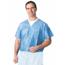 Medline Disposable V-Neck Scrub Shirt Blue, XXL(case of 30) MEDNON27202XXL